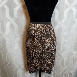 Worthington leopard print wrap skirt